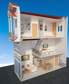 examples of dream house decor for tiny house and tips for getting your dream… - DIY Traumhaus Sims House Plans, House Layout Plans, Small House Plans, House Layouts, House Front Design, Small House Design, Modern House Design, Home Room Design, Home Design Plans