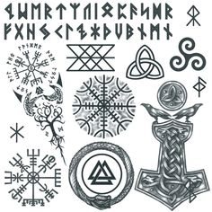 Viking Apparel that is inspired by Vikings and with Viking design, Now there's nothing stopping you from looking like a modern day Viking! Viking Warrior Tattoos, Viking Tattoo Sleeve, Viking Tattoo Symbol, Norse Tattoo, Tattoo Set, Celtic Tattoos, Sleeve Tattoos, Yggdrasil Tattoo, Ouroboros Tattoo