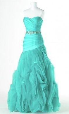 Princess Strapless Long Organza Prom Dress On The Fancy Side Of Dresses | Big Fashion Show princess prom dresses