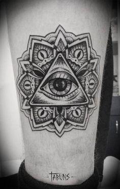 All seeing eye tattoo God Tattoos, Future Tattoos, Tattoos For Guys, Tattoo Signification, Frida Tattoo, Illuminati Tattoo, Occult Tattoo, Ouroboros Tattoo, All Seeing Eye Tattoo