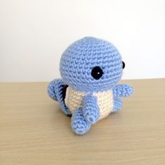 Squirtle - Pokemon Character - Free Amigurumi Pattern here: http://53stitches.tumblr.com/post/95975946512/squirtle-amigurumi-pattern