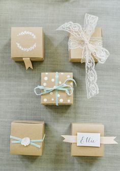idées mariage : petites boîtes à cadeaux pour les invités