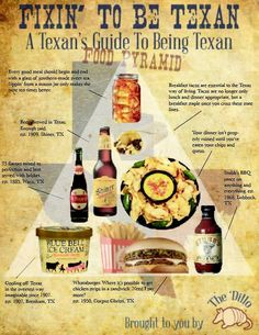 Fixin' To Be Texan: A Texan's Guide To Being Texan, The Texan Food Pyramid (For somebody I know who might come to Texas soon! Miss Texas, Texas A&m, Eyes Of Texas, Texas Humor, Only In Texas, Republic Of Texas, Texas Forever, Loving Texas, Texas Pride
