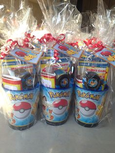 When it comes to throwing a kid's birthday party, most of us want to send our guests home happy. But every mom knows what it's like when her kid… Continue Reading → Pokemon Themed Party, Pokemon Birthday, Pokemon Party Bags, Pokemon Pinata, 9th Birthday Parties, 8th Birthday, Birthday Ideas, Fete Laurent, Party Time