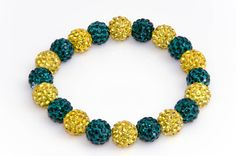 Green and Gold Packers Shamballa Bracelet
