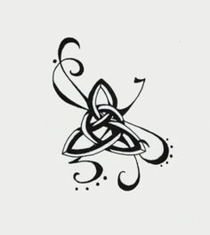 Tattoo idea- For pagans, the Triquetra represents the threefold nature of the Goddess as virgin, mother and crone. It also symbolizes life, death, and rebirth and the three forces of nature: earth, air, and water. The inner three circles represent the female element and fertility