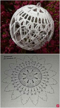 Best 12 Learn how to crochet these cute and extraordinary Christmas Baubles using the step by step tutorials in different languages. Christmas Tree Hooks, Crochet Christmas Ornaments, Christmas Crochet Patterns, Beaded Ornaments, Christmas Baubles, Christmas Crafts, Christmas Decorations, Christmas Jacket, Christmas Coasters