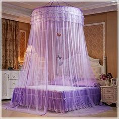 New Design Hung Dome Mosquito Net Princess Insect Bed Canopy Netting Lace Round Mosquito Nets With Luminous Butterfly Canopy Over Bed, Canopy Bedroom, Diy Canopy, Canopy Tent, Bedroom Decor, Hotel Canopy, Canopy Bed Curtains, Bedroom Games, Ikea Canopy