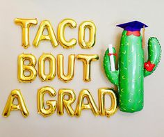 TACO BOUT A GRAD Balloon Set Grad Party Balloons Grad