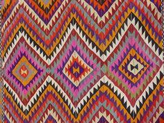 "VINTAGE Turkish Kilim Rug Carpet, Handwoven Kilim Rug,Antique Kilim Rug,Decorative Kilim, Naturel Wool  62"" X 50"""