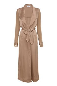 Clothing : Jackets : 'Coryn' Rose Gold Silky Duster Coat