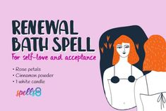 A step-by-step candle bath spell with easy ingredients. Take this spiritual cleansing bath for forgiveness and self-acceptance. Boost your confidence and esteem Free Love Spells, Easy Spells, Spiritual Bath, Spiritual Cleansing, Spells For Beginners, Bath Recipes, Lack Of Energy, Candle Spells, Peace And Harmony