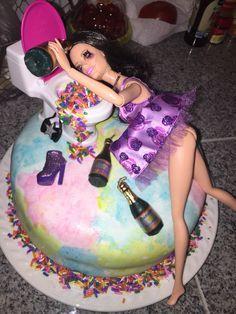 21st birthday drunk barbie cake!