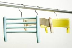 Clothes hangers made of old chair parts - fun idea from stylinrooms.de