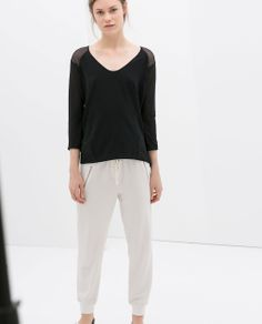 ZARA - WOMAN - COMBINED T-SHIRT  2,950 DZD