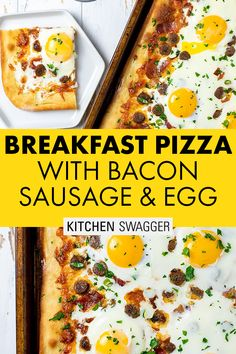 Breakfast Sausage Recipes, Breakfast Pizza, Breakfast Items, Brunch Recipes, Bacon Sausage, Sausage And Egg, Brunch Dishes, How To Make Breakfast, Just Cooking