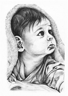 Drawings of baby drawing sketches pencil portraits and babies easy moana Pencil Drawing Pictures, Pencil Drawings Of Girls, Art Drawings Sketches Simple, Pictures To Draw, Cute Drawings, Drawing Ideas, Drawing Tutorials, Animal Drawings, Pencil Sketch Portrait