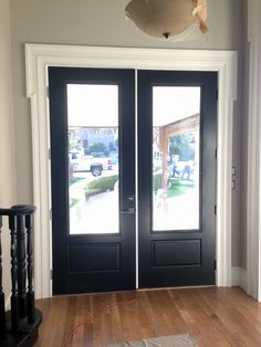 All the doors were painted Onyx, another favorite shade of mine. It's a black with depth - a lot like Farrow and Ball's Off Black (but witho...