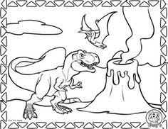 Dimorphodon Coloring Flying Dinosaur Pages