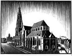 Delft: Nieuwe Kerk - M.C. Escher, c.1939, 288/469.