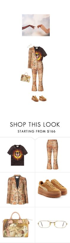 """122) though we were wide awake, this is a dream state"" by prxgeny ❤ liked on Polyvore featuring Gucci, Frame, Puma, Louis Vuitton and Cartier"