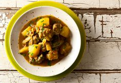 Thai style massaman curry with venison. It's basically Thai meat and potatoes... Recipe on http://honest-food.net