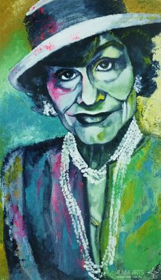 "Olga Dacha - Alma Arts Agency ""Coco Chanel"", 2014. Acrylic on canvas 190x90cm"