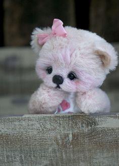 Three O'Clock Bears: Ickle Valentina...a sweet baby bear