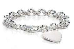 Sterling Silver Heart Tag Bracelet.  Would make a nice graduation gift.  Save 15% at Ice.com and see more coupons to save here:  http://www.coupons.com/coupon-codes/ice.com/