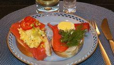 SMØRBRØD Norwegian Smoked Salmon & Egg Open Face Sandwich. Homemade Reci...