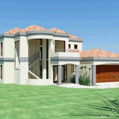 Double Storey Archives - Page 3 of 5 - House Plans SA 6 Bedroom House Plans, 4 Bedroom House Designs, Garage House Plans, House Floor Plans, Double Storey House Plans, Double Story House, 2 Storey House, Built In Braai, House Plans With Pictures