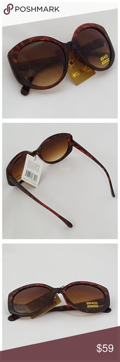 Retro Chic Tortoise Shell Oversize Sunglasses NWT Boutique sunglasses, retro chic style with oversized look. Black and dark brown tortoise shell print. Stylish celebrity eyewear.    * UV protection reduces red rays  * Absorbs 100% of UVA and UVB rays, filtering colors  * High level visible contrast  * New with tags, individually packaged. Retro Chic Accessories Sunglasses
