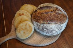 Fresh baked Country Loaf and English muffins. The best parts of finalizing our Artisan Bread School curriculum!
