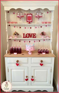 Gorgeous display at a Valentine's Day party! See more party planning ideas at CatchMyParty.com!