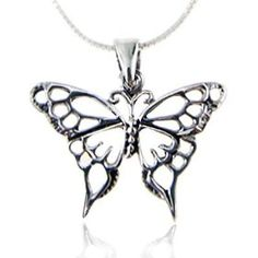 925 Sterling Silver Open Celtic Butterfly Pendant Necklace 18 inch Snake Chain -- Visit the image link more details. (This is an affiliate link) Butterfly Jewelry, Butterfly Pendant, Butterfly Necklace, Butterfly Gifts, Sterling Silver Necklaces, Silver Jewelry, Jewelry Necklaces, Metal Jewelry, Jewelry Box