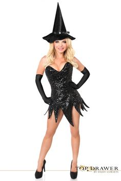 Top Drawer Sequin Witch Corset Dress Costume   Plus Size. Sexiga Halloween  KostymerKlänningar ... 885acb98b99a5