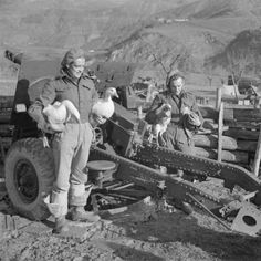 Gunners of the 43rd Field Regiment Royal Artillery with geese and turkeys for the Christmas pot, Italy, 1944.