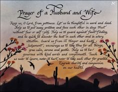 Prayer of a husband and wife.