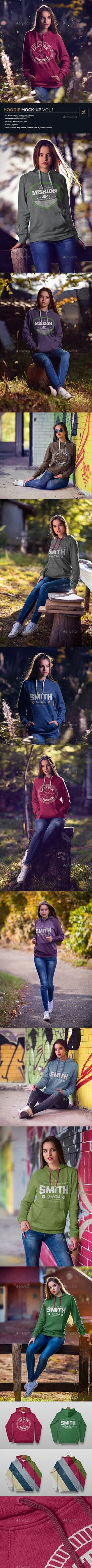Hoodie MockUp Vol.1 — Photoshop PSD #girl #female • Available here → https://graphicriver.net/item/hoodie-mockup-vol1/18393956?ref=pxcr