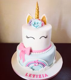 Unicorn cake by Na Furtado Cake Designer bolo unicornio torta unicorno Mini Cakes, Cupcake Cakes, Unicorn Birthday Parties, Birthday Cake, Pony Cake, Hazelnut Cake, Unicorn Baby Shower, Salty Cake, Cake Tins