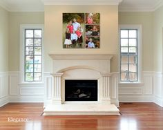 Custom Family Decal-Family Is Everything Decal-Livingroom-Entry-Kitchen-Bedroom -Picture Wall-Photo Wall- Elegant Script from SignJunkies on Etsy Fireplace Wall, Fireplace Mantels, Fireplaces, Fireplace Ideas, Fireplace Windows, Mantel Ideas, Fireplace Remodel, Fireplace Design, Picture Wall