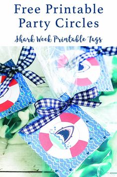 Celebrate Shark Week or host a fun Shark Birthday Party with these free printable tags from Everyday Party Magazine. #SharkWeek #SharkPartyPrintables