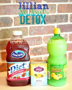 Jillian Michael's Detox Water 60 ounces Purified Water, 2 TBS Diet Cranberry Juice, 2 TBS Lemon Water, 1 Bag Dandelion Tea - Stewed ( I found my tea at Walmart in the beverage isle near the crystal light) This is a replacement of normal water intake Healthy Habits, Get Healthy, Healthy Tips, Healthy Choices, Fitness Diet, Fitness Motivation, Health Fitness, Smoothies Detox, Look Body