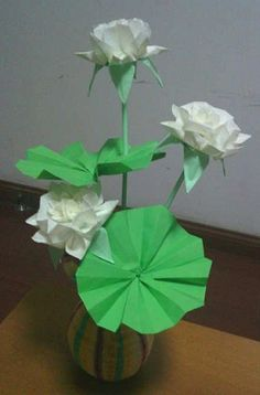 Ornament - Origami Two Folds Lotus