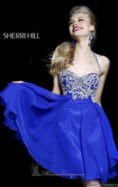 Sherri Hill 3878 by Sherri Hill. Serene Blue.