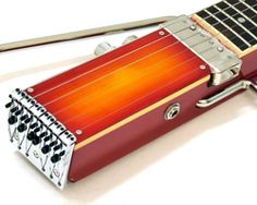 the result of extensive research by an american instrument designer,  'ministar' travel guitars offer the sound of rock, jazz, or acoustic guitars in a miniaturized form that lacks a body.