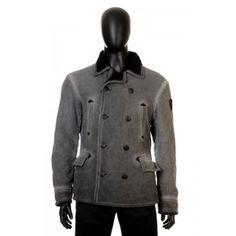 Armani Jeans - czarna dwurzędowa kurtka męska