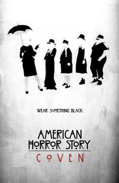 """""""Às quartas-feiras, nós vestimos preto"""". - American Horror Story: Coven."""