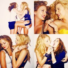 cute! reminds me of me & my friends<3 i love blair and serena(: