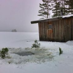 This weekend's ice hole is ready for those who dare :-) The hot sauna is in the background See Picture, Dares, Ice, Adventure, Pictures, House, Outdoor, Outdoors, Haus